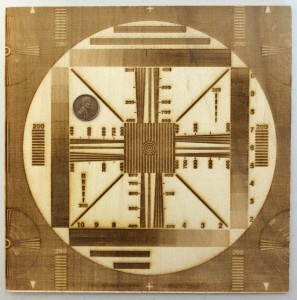 8×8-inch test pattern engraved at 529.2dpi.